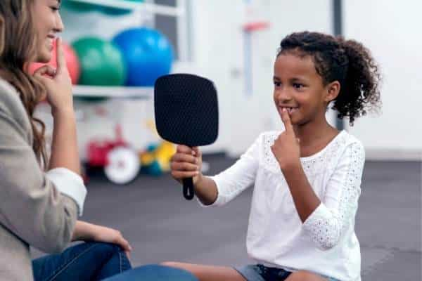 Child in speech therapy-pediatric speech therapy